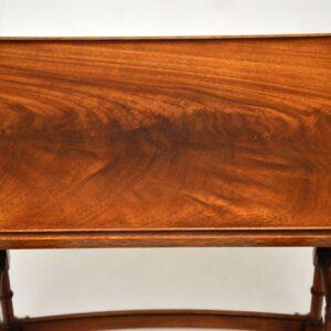 antique georgian mahogany nest of three tables