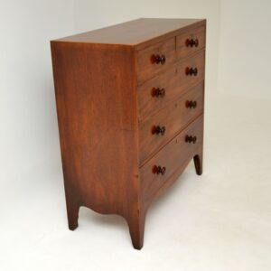 antique georgian victorian mahogany chest of drawers
