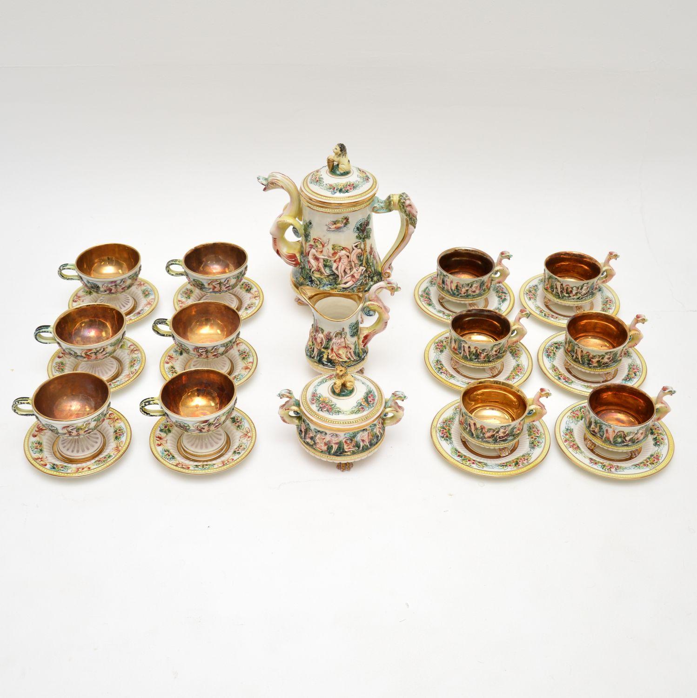 vintage antique italian rs marino capodimonte tea set