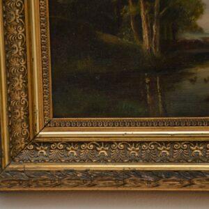 antique landscape oil painting