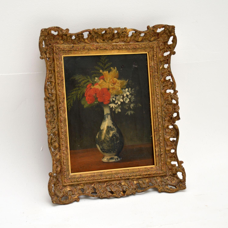 antique still life oil painting