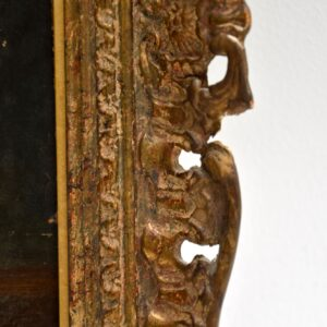 Antique Still Life Oil Painting in Gilt Wood Frame