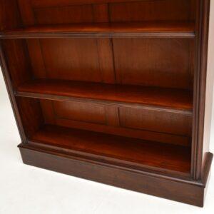 antique victorian william IV mahogany open bookcase