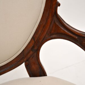 antique victorian rosewood spoon back armchair