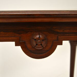 antique victorian rosewood side table