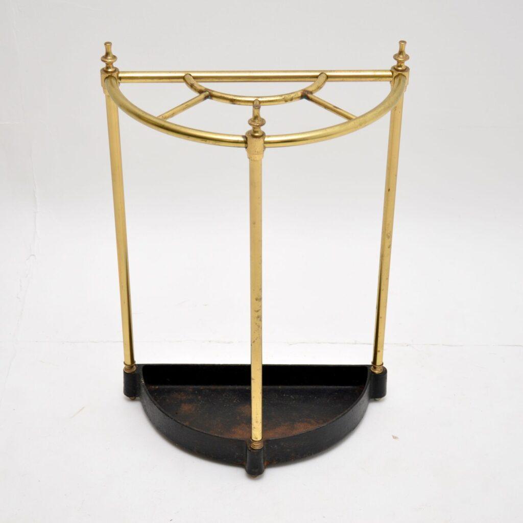 antique victorian brass umbrella stand