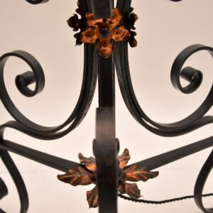 antique wrought iron floor lamp