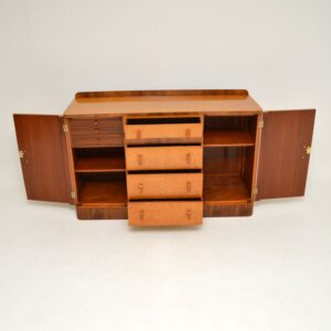 art deco burr maple walnut sideboard