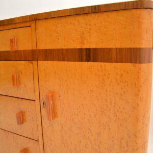 1920's Art Deco Burr Maple & Walnut Sideboard