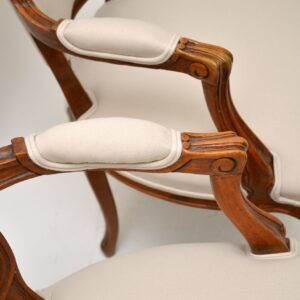 Pair of Antique French Walnut Salon Chairs