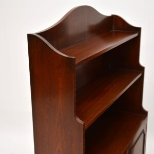 pair of antique mahogany open bookcase bookcases