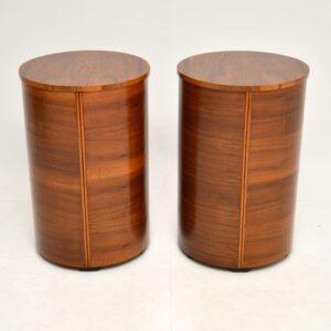 Pair of Art Deco Walnut Bedside / Side Chests