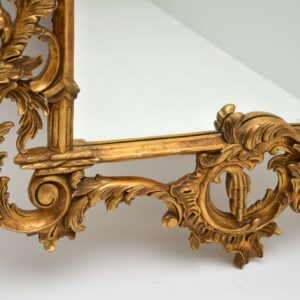 pair of large antique french gilt wood mirrors