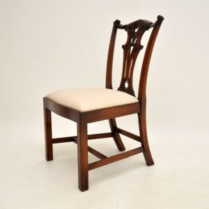 set of six antique mahogany chippendale dining chairs