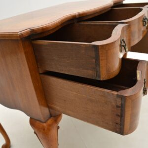 Antique Burr Walnut Lowboy Desk / Dressing Table