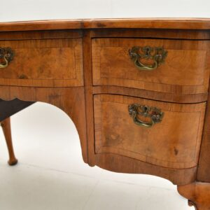 antique burr walnut lowboy side table dressing table desk