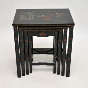 Antique Chinese Style Chinoiserie Nest of Tables
