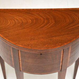 Antique Sheraton Inlaid Mahogany Tea / Work Table