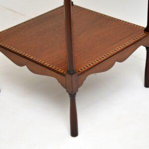 antique edwardian inlaid mahogany side table