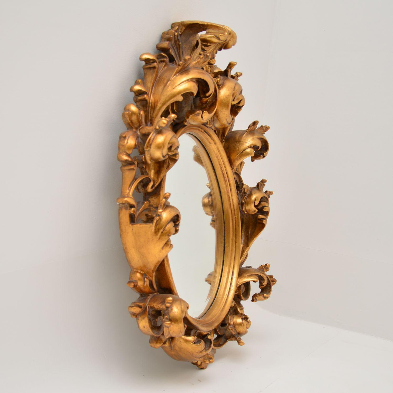 antique french rococo gilt wood mirror