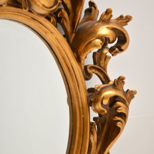 antique french rococo gilt wood mirror