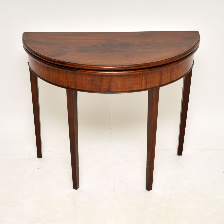 antique georgian mahogany card table