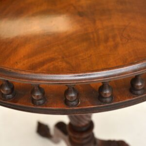 antique mahogany gallery top wine side occasional table