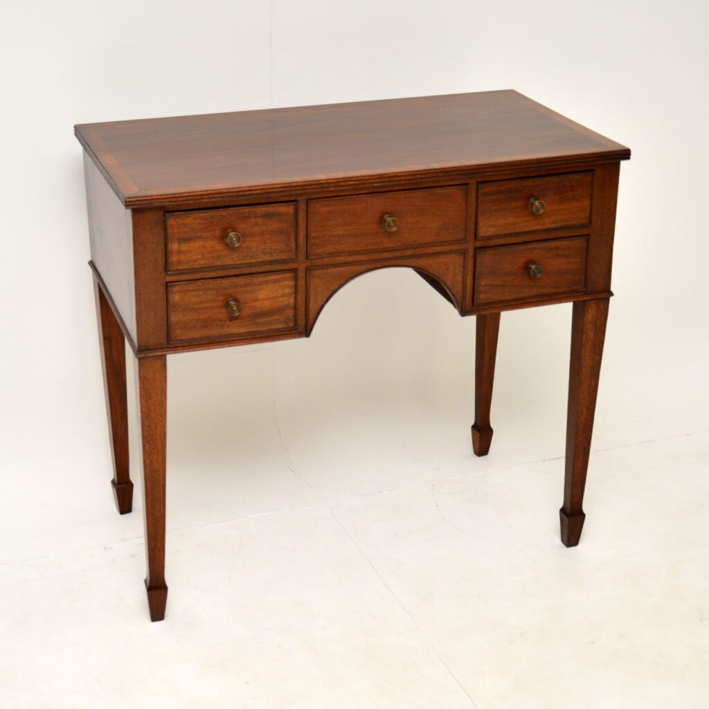 antique georgian mahogany server lowboy side console table