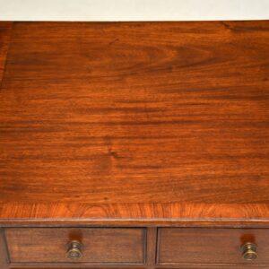 antique georgian mahogany server lowboy side console table