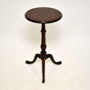 antique georgian mahogany side wine tripod table