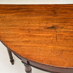 antique georgian mahogany d end console side hall table