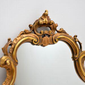 antique italian gilt wood mirror