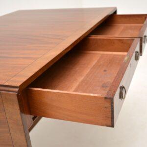 antique inlaid mahogany regency sofa table