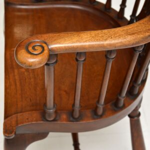 antique victorian mahogany captains desk chair armchair