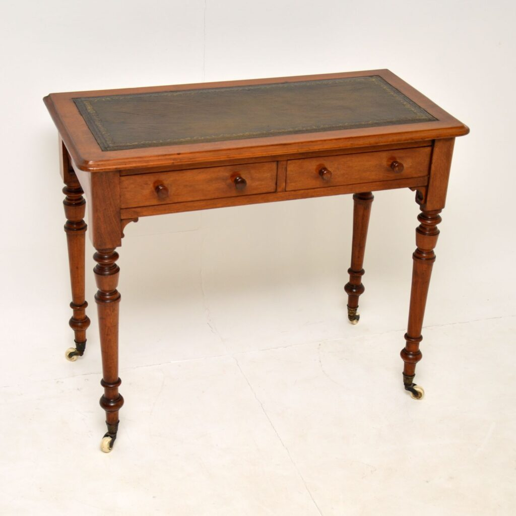 antique victorian walnut writing table desk