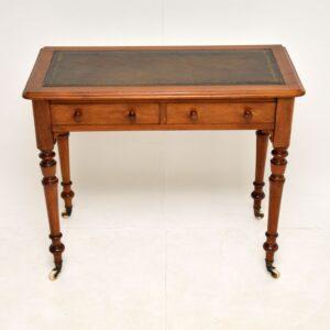 antique victorian walnut writing table desk