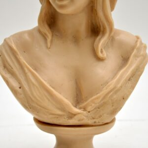 antique vintage stone marble resin bust sculpture