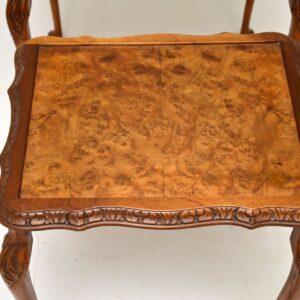 antique burr walnut nest of three tables