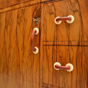 1930's Art Deco Figured Walnut Compactum Wardrobe