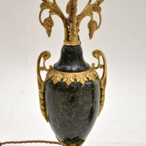 pair of antique french gilt bronze metal marble table lamps