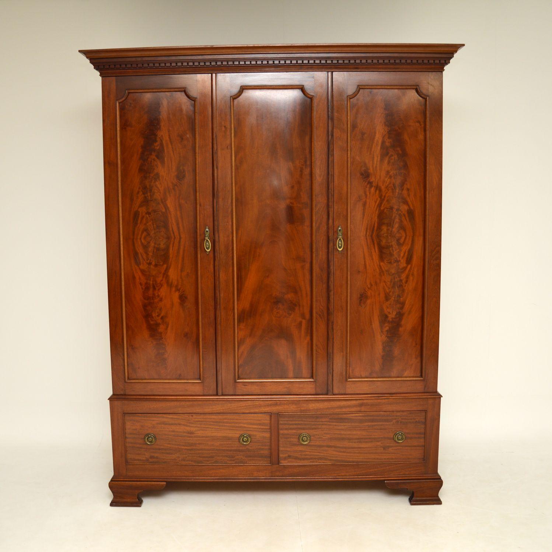 antique georgian mahogany wardrobe