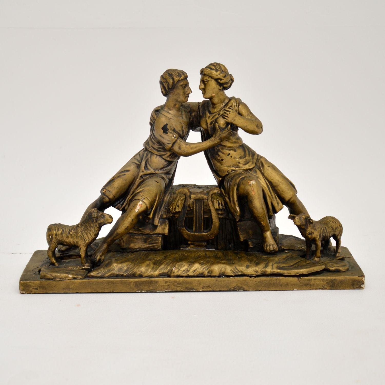 antique carved wood italian biblical sculpture