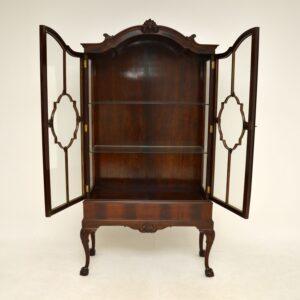 antique mahogany victorian display cabinet