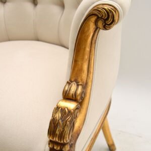 antique french gilt wood armchair