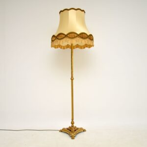 antique french brass floor lamp