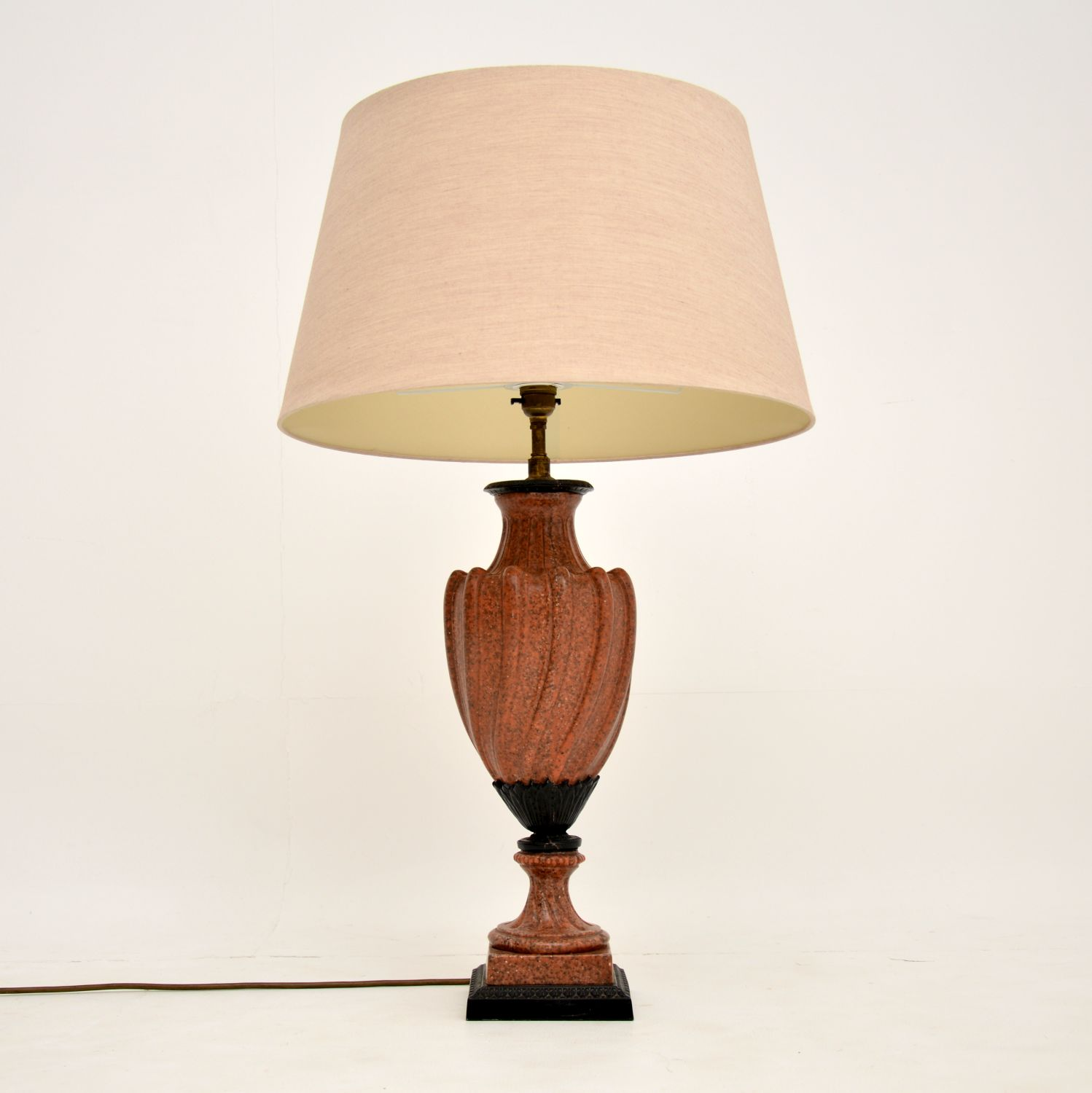 antique french marble table lamp