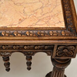 Antique Carved Marble Top Coffee Table