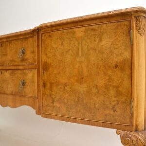 antique burr walnut queen anne epstein sideboard