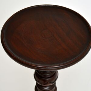 Antique Victorian Carved Mahogany Torchere Table