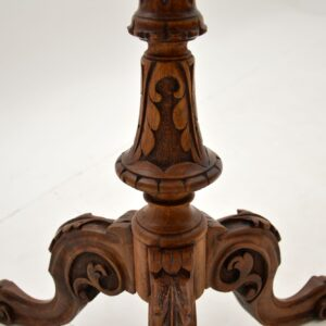 antique victorian burr inlaid walnut occasional table